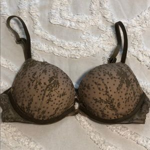 VS Push Up Bra Olive Green